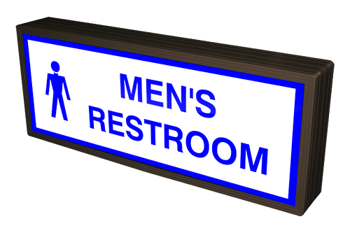 Directional Systems Product #38874 - MEN'S RESTROOM w/ Man Symbol