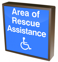 Directional Systems 38877 SBLF1212W-A174B/120-277VAC Area of Rescue Assistance w/Handicap Symbol (120-277 VAC) Image
