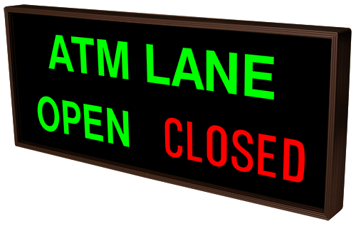 Directional Systems Product #38983 - ATM LANE | OPEN | CLOSED