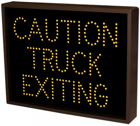 Directional Systems 39035 TCL1418A-J848/120-277VAC CAUTION TRUCK EXITING (120-277 VAC) Image