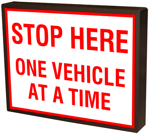 Stop Here One Vehicle At A Time 39380 Entrance And