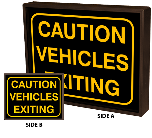 Directional Systems Product #39390 - CAUTION VEHICLES EXITING w/Border | CAUTION VEHICLES EXITING w/Border