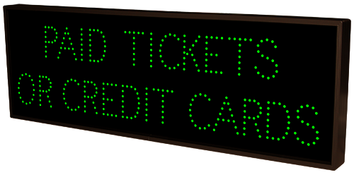 Directional Systems 39795 TCL1442GGR-B162/120-277VAC PAID TICKETS OR CREDIT CARDS | CASHIER | CLOSED (120-277 VAC) Message 1 Image