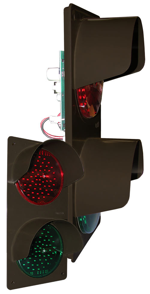 Directional Systems Product #42785 - TCILV Vertical Replacement Kit, LED Circuit Board w/ Hood, Red/Green