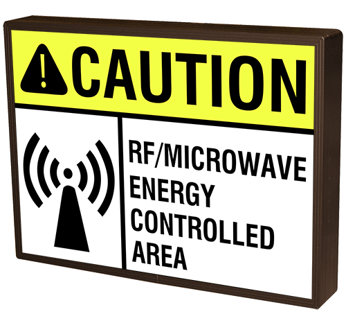 Directional Systems Product #43829 - CAUTION RF/MICROWAVE ENERGY CONTROLLED AREA w/Symbol