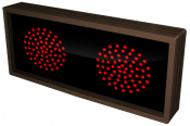 Indicator Dots, double, horizontal, Red - Red