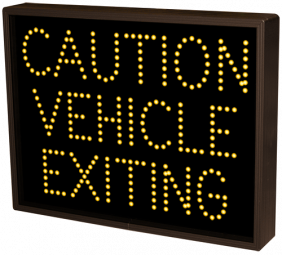CAUTION VEHICLE EXITING