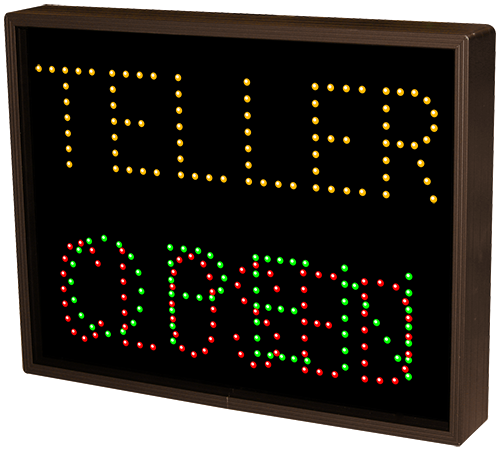 Directional Systems Product #5068 - TELLER | OPEN | CLOSED