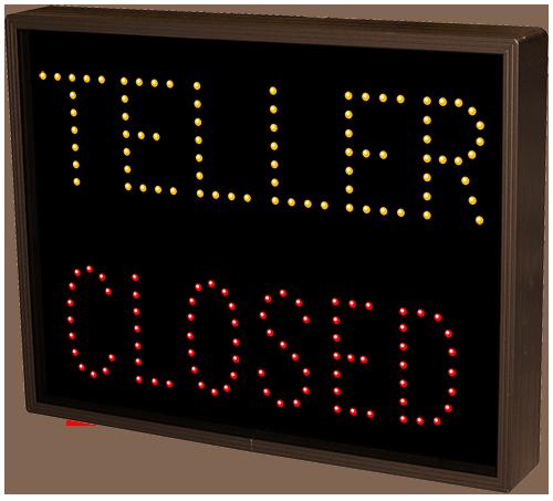 Teller Open Closed 5068 Drive Thru Bank Signs
