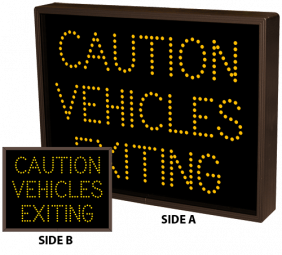 Directional Systems 5070 TCL1418DAA-171/120-277VAC CAUTION VEHICLES EXITING (120-277 VAC) Image