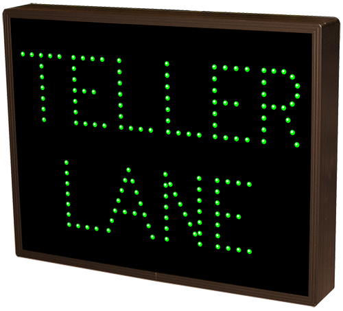 Teller Lane 5084 Drive Thru Bank Signs Directional