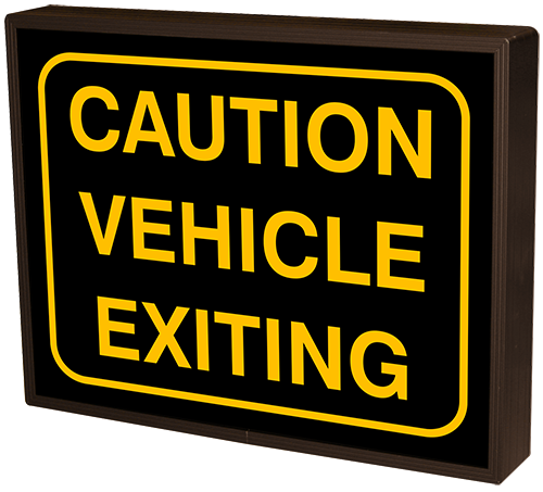 Directional Systems Product #51164 - CAUTION VEHICLE EXITING w/Border