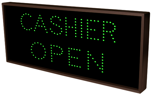 Cashier Open Closed 5184 Open Closed Bank Signs