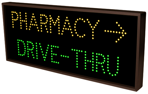Directional Systems Product #5212 - PHARMACY w/Right Arrow | DRIVE-THRU