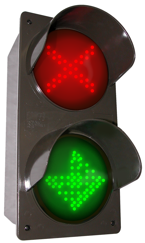 Directional Systems Product #52176 - LED traffic Controller X | Down Arrow | Right Arrow, Vertical, Red-Green-Green