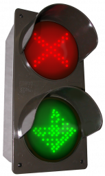 Directional Systems 52176 TCILV-RGG-G095/120-277VAC LED traffic Controller X | Down Arrow | Right Arrow, Vertical, Red-Green-Green (120-277 VAC) Image