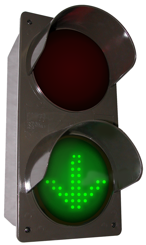 Directional Systems 52176 TCILV-RGG-G095/120-277VAC LED traffic Controller X | Down Arrow | Right Arrow, Vertical, Red-Green-Green (120-277 VAC) Message 1 Image