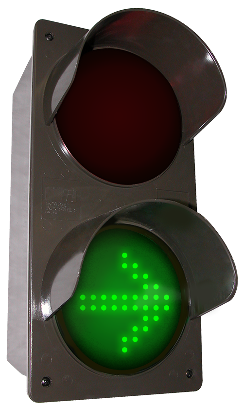 Directional Systems 52176 TCILV-RGG-G095/120-277VAC LED traffic Controller X | Down Arrow | Right Arrow, Vertical, Red-Green-Green (120-277 VAC) Message 2 Image