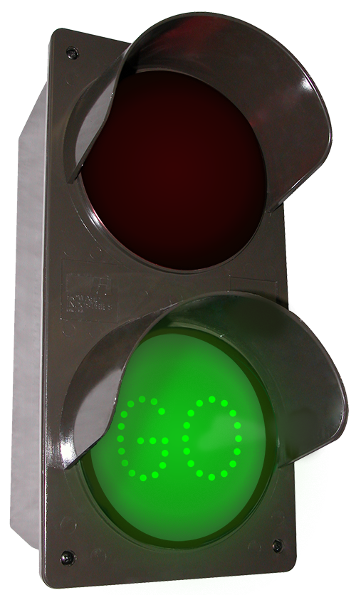 Directional Systems 52177 TCILV-RG-A203/120-277VAC LED Traffic Controller STOP | GO (120-277 VAC) Message 1 Image