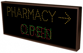 Directional Systems 5219 TCL1434AGR-A546 OPEN | CLOSED | PHARMACY w/Right Arrow Image