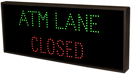 ATM LANE OPEN CLOSED 5257 Open Closed Bank Signs
