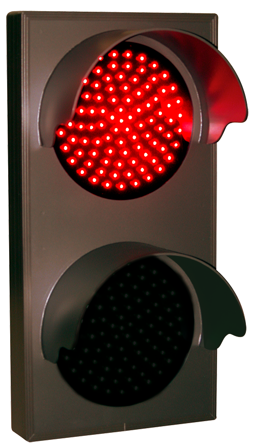 Indicator Dot Double With Hoods Vertical Red Green