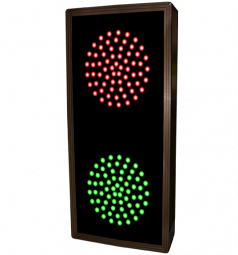 Indicator Dots, double, vertical, Red - Green