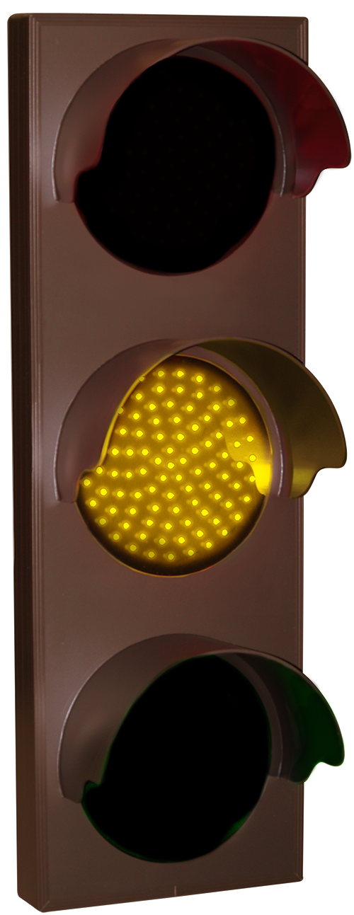Directional Systems 5618 TCL217RAG-226H/120-277VAC Indicator Dots, Triple with Hoods, Vertical, 4 in dia, Red - Amber - Green (120-277 VAC) Message 2 Image