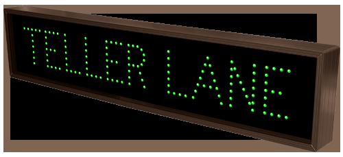 Teller Lane 8284 Drive Thru Bank Signs Directional