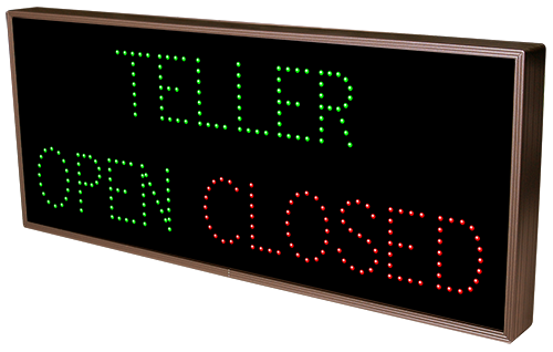 Directional Systems Product #8860 - TELLER | OPEN | CLOSED