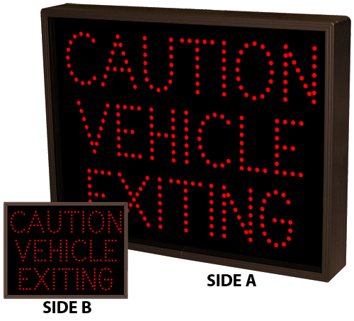 Directional Systems Product #9755 - CAUTION VEHICLE EXITING