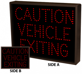 Directional Systems 9755 TCL1418DRR-A172/120-277VAC CAUTION VEHICLE EXITING (120-277 VAC) Image